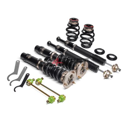 Sports height and rigidly adjustable suspension BC Racing BR Series for BMW E46