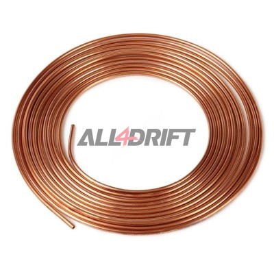 Copper brake pipe 5mm (4,75mm) CU 5m