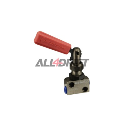 Lever OBP valve for reducing and regulating the braking effect - step