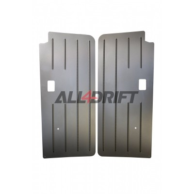Aluminum racing door panels BMW E30 coupe - front + rear