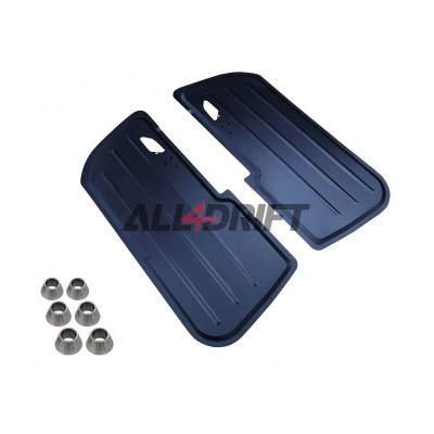 Aluminum racing door panels BMW E46 coupe - front + rear