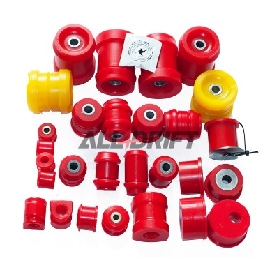 Complete set of polyurethane silent blocks BMW E36