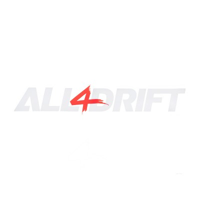 Sticker All4Drift white red S/M/L/XL