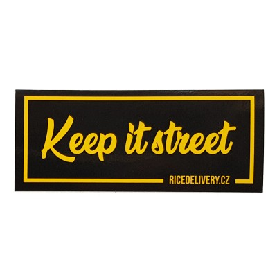 Sticker Keep it street (RICEDELIVERY)
