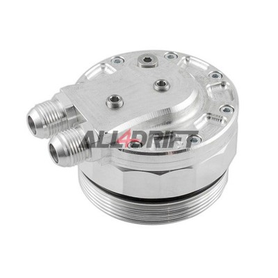 Oil filter cover (cap) for mounting the oil cooler and 3 sensors BMW M52 M54 M56